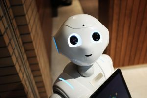 female accountant robot helping with business automation